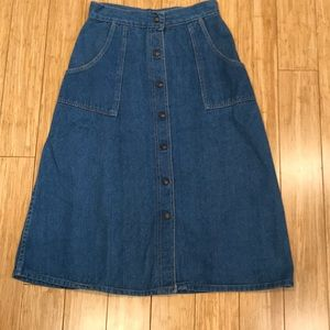 Vintage Jean Button Down Skirt!